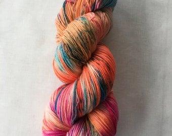"150g 100% Superwash Merino Sock Yarn, 4 ply, sock, fingering, shawl, hand dyed in Scotland, variegated, ""skyrie speckles"""