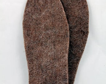 Felted Alpaca Shoe and Boot Inserts