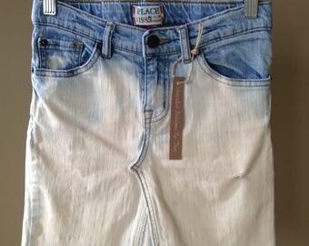 Upcycled Denim - Jean Skirt - Girls Size 10