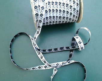 "1/2"" width, Embroidered trim lace ribbon, black, silver grey ribbon, craft projects, ribbon, border, satin thread, gray, satin, silk, flower"
