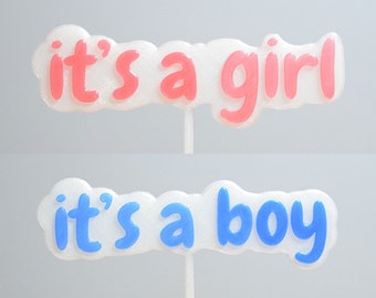Cake Topper - It's a Girl/Boy