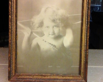 Old Cupid Awake Framed Photo