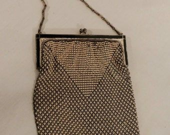 50% Off! 1920s Whiting and Davis Art Nouveau Mesh Evening Bag