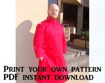 Howie Lab Coat Pattern – Horrible Lab Coat – Digital Download PDF Howie Coat Pattern – Side Closure Lab Coat Pattern – Mad Scientist Coat
