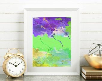 Modern Abstract Original Watercolor Painting Digital Print wall decor