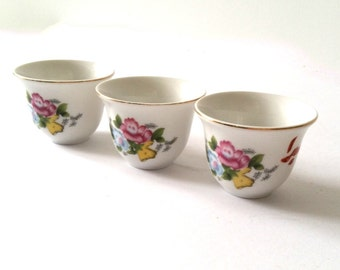Sweet trio sake cups