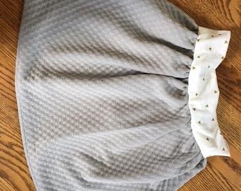 toddler skirt, baby skirt, grey skirt
