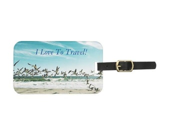 I Love To Travel Luggage Tag