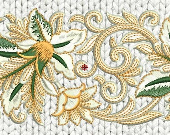 Machine Embroidery Design-Ornate Border,paadar club