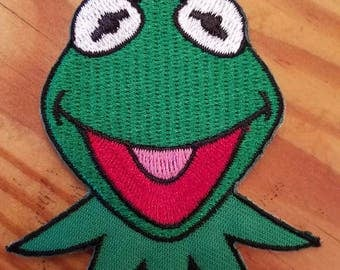 Kermit the Frog Iron on Patch - Muppets Kermit Applique' - Ready to Ship