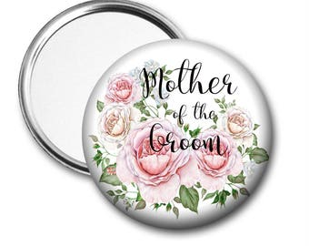 Roses Mother of the Groom 58 mm 2.5 inch Pocket Mirror