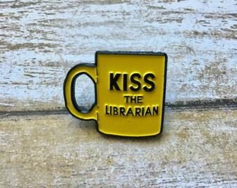 Buffy the vampire slayer pin, kiss the librarian mug pin, spike pin