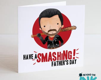 Walking Dead Father's Day Card - Card For Dad - TWD - Negan - Smashing