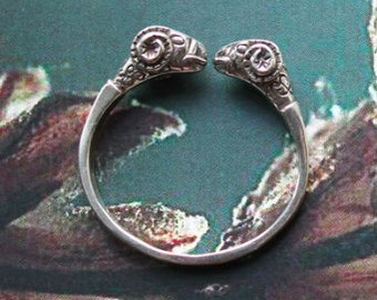 Sterling silver ring Aries ( ram )