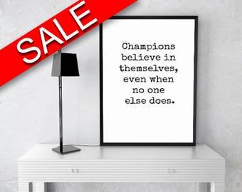 Wall Art Champions Digital Print Champions Poster Art Champions Wall Art Print Champions Inspirational Art Champions Inspirational Print