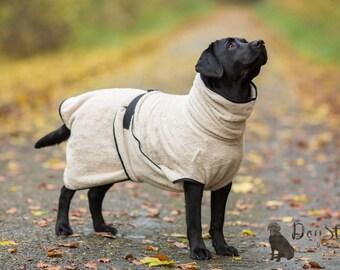 Dog Bathrobe beige - Made to Order - Doggy bathrobe