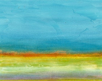 """Abstract Landscape Original Painting """"Sierra Valley 3"""" by Mark Evan Jacobs"""