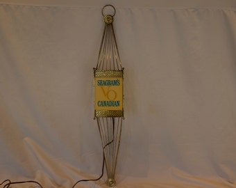 Rare Vintage Seagram's VO Canadian Lighted Sign - FREE SHIPPING!