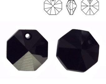 Swarovski Elements, 6401, Octagon Jet 12mm, Swarovski Octagon, Swarovski crystal, black crystal, octagon crystal