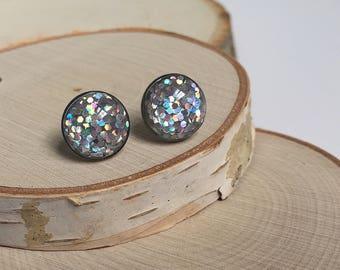 Earrings - Silver Sparkle