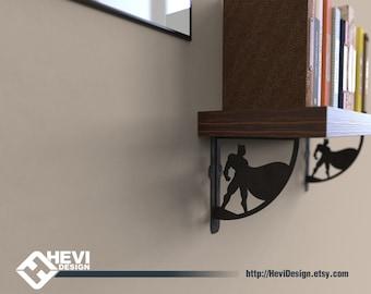 2x Batman shelf bracket (2 brackets for complete shelf mounting, without shelf)