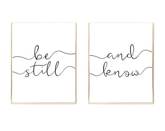 Be still and know that I am God printable poster, print, printable, wall art, wall decor, be still sign, be still poster, printable sign