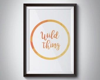 wild thing digital print, minimalist decor, baby room decor, lds decor,