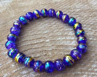 Purple Glass Swirl