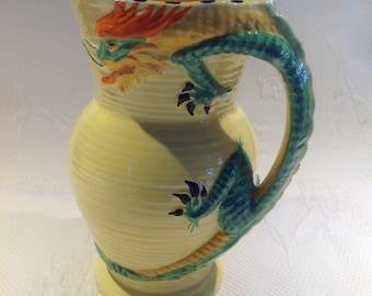 "Art Deco Burleighware ""Dragon"" pitcher / / made in England"