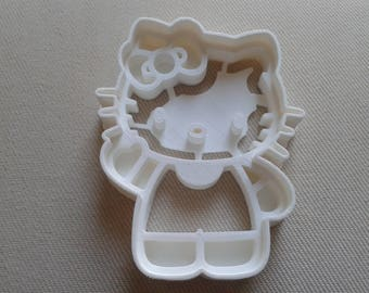 Hello Kitty Cookie Cutter 3d Printed