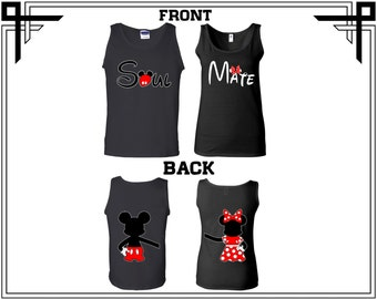 Soul Mate Mickey Minnie Couple Tank Top Soul Mate Mickey Minnie Front Back Couple Tank Top Soul Mate Couple Tank Gift For Couple