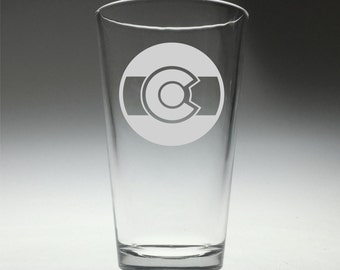 FREE SHIPPING Personalized Colorado Round Flag engraved glass , colorado fan , colorado gift ,