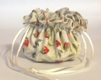 Handmade Jewelry bag, jewelry pouch, travel jewelry pouch, jewelry gift bag, drawstring bag, jewelry accessory