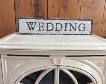 Wedding wood sign