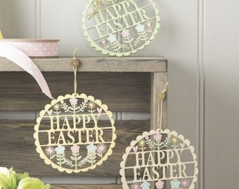 Easter Decorations - Happy Easter Decorations - Fretwork