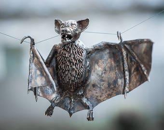 Bat stainless steel sculpture