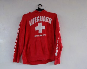 Vintage LIFEGUARD New York City Red Sweater