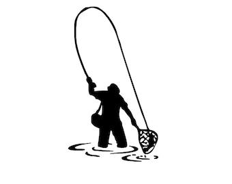 Fisherman Decal 4x7