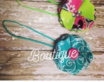 Fabric Flower Headband Set of 2