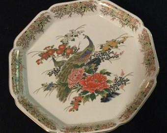 Vintage Sato Gordon Six Sided Collection Plate Bowl Asian Style Made In Japan