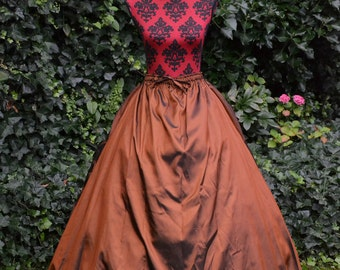 Adonia skirt, steampunk skirt, gothic skirt, victorian skirt