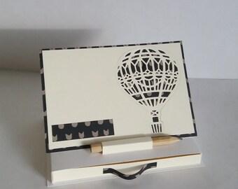 porte post it personnalisable accessoire de bureau montgolfire vanille noir - Bureaux Adolescente Noir Et Strass