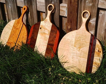 Circle Paddle Style Serving & Cutting Boards