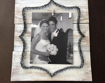 rustic frame, 8x10 frame, nail and string art frame