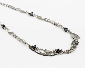 Swarovski crystal and stainless steel necklace