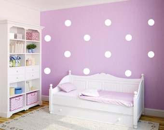 Polka Dots Vinyl Wall Decal for Kids Bedroom,  Nursery, Living Room or Kitchen Various Sizes and Colors