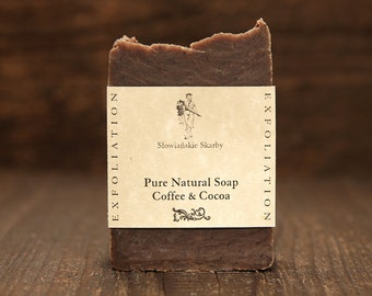 Coffee & Cocoa Soap - BUY 3 GET 4, Handmade Soap, Natural Soap, Vegan Soap, Body Soap, Exfoliation Soap, Scrub Soap, Women Soap, Men Soap