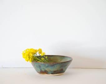 Handmade light Blue Glaze Earth Tones Ceramic Stoneware Bowl By Robyn Hynes