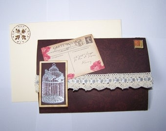 Card blank vintage style