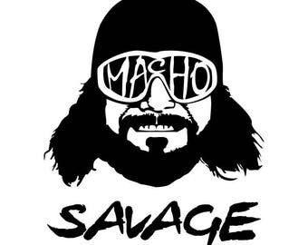 WWE WWF Macho Man Randy Savage Vehicle Decal Car Laptop Sticker WCW
